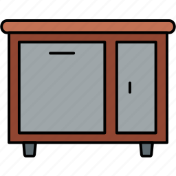 almirah, cabinet, cupboard, drawer, drawers, furniture, storage icon