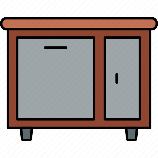 almirah, cabinet, cupboard, drawer, drawers, furniture, storage icon