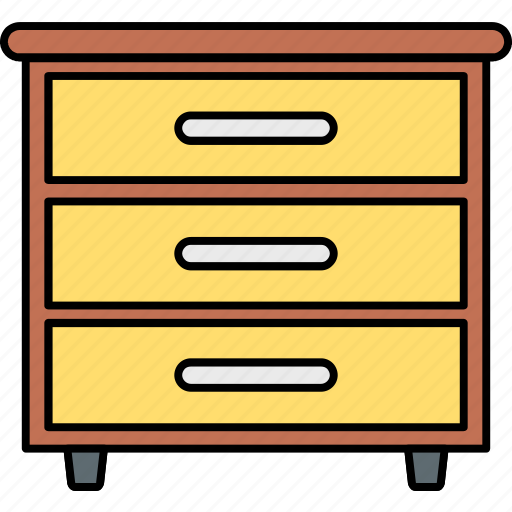 cupboard, drawer, drawers, furniture, interior, office, storage icon
