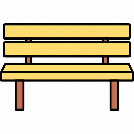 chair, furniture, garden seat, park, park sitting, seat, settee icon