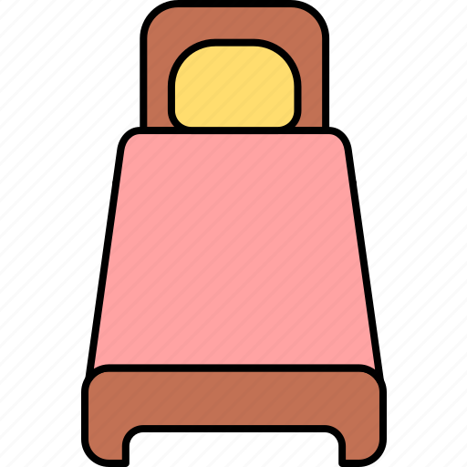 apartment, bed, furniture, home, house, single bed, sleep icon
