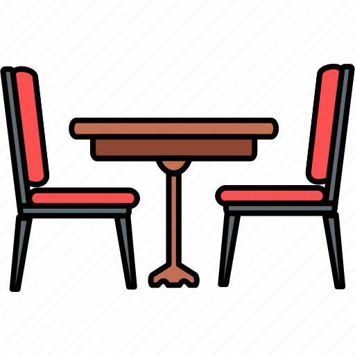 chair, dining room, dining table, furniture, living room, restaurant, table icon