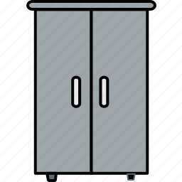 almirah, closet, cupboard, furniture, home, house, storage icon