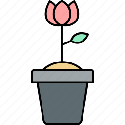 decoration, floral, flower, flowervase, plant, rose, vase icon
