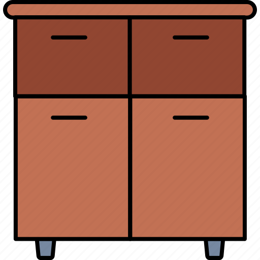 cabinet, drawer, drawers, furniture, home, house, room icon