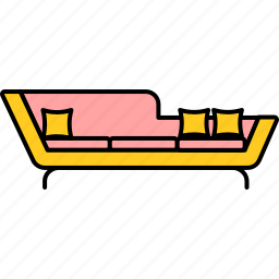bedroom, couch, furnishings, furniture, interior, room, sofa icon