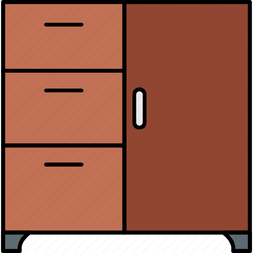 almirah, cupboard, drawer, furniture, home, room, storage icon