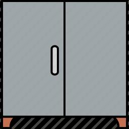 almirah, cabinet, cupboard, furniture, home, interior, room icon