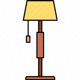 electric, energy, floor lamp, idea, lamp, light, power icon