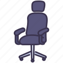armchair, furniture, office, sit, work
