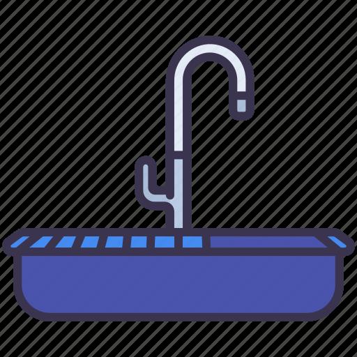 home, sanitary, sink, ware, wash icon