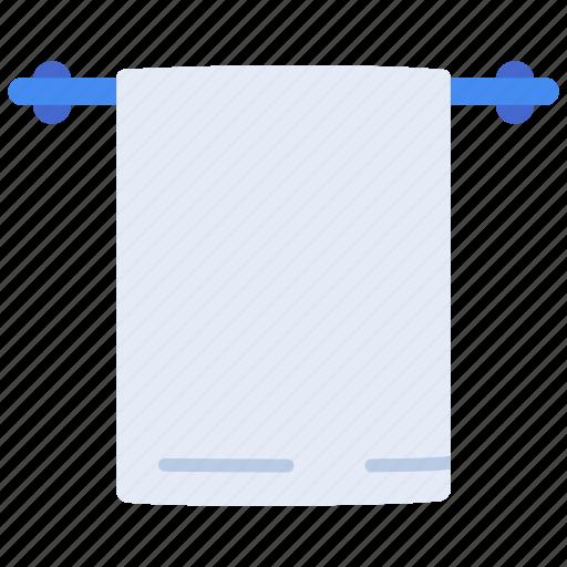 bath, cloth, hanger, holder, towel, wall icon