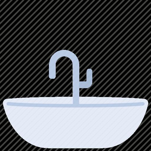 bathtub, home, sanitary, shower, ware icon