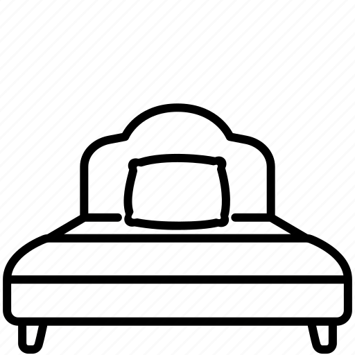 bed, furniture, home, pillow, single, sleep icon