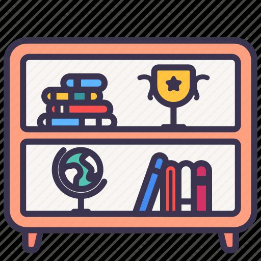 book, furniture, rack, room, shelf icon