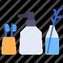 accessories, bathroom, bottle, decor, toilet, tootbrush