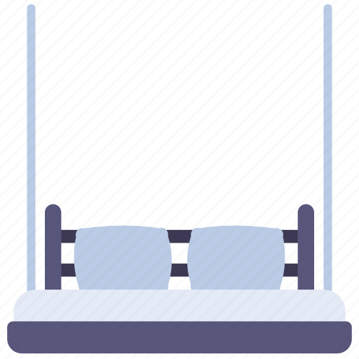 bed, furniture, pillows, sleep, swing icon