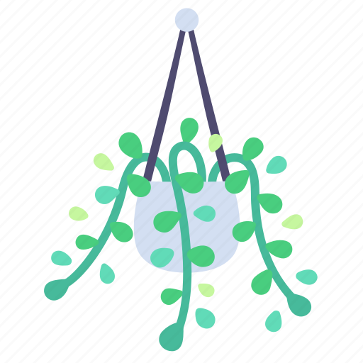 Decor, hanging, home, leaves, plant icon - Download on Iconfinder