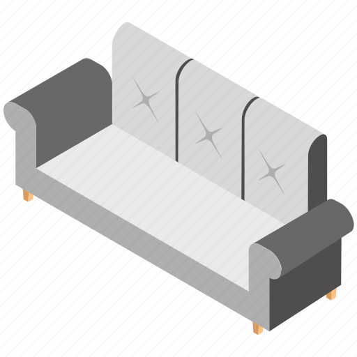 couch, furniture, recliner, settee, sofa icon