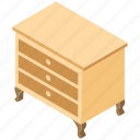 bureau, cabinet, drawers, nightstand, sideboard icon