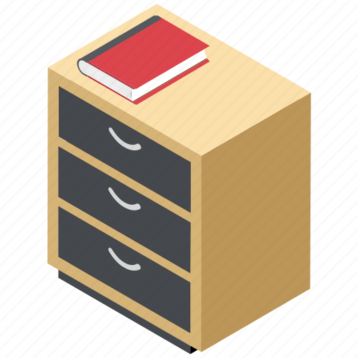 bedroom furniture, bedside table, cabinet, drawers, filing cabinet icon