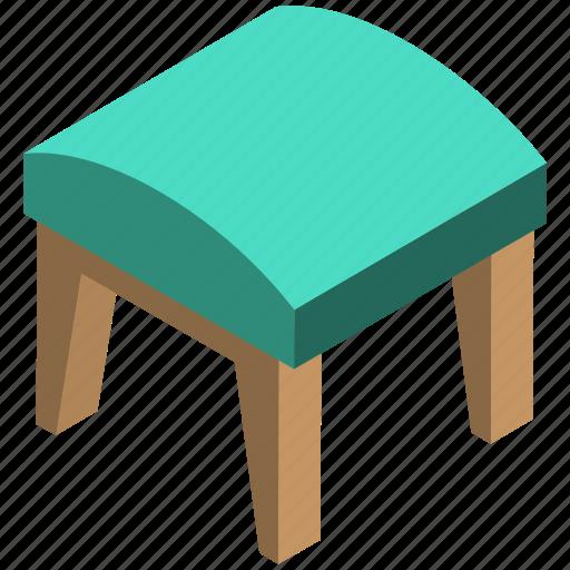 bedroom furniture, comfy seat, stool table, vanity stool, vanity table icon