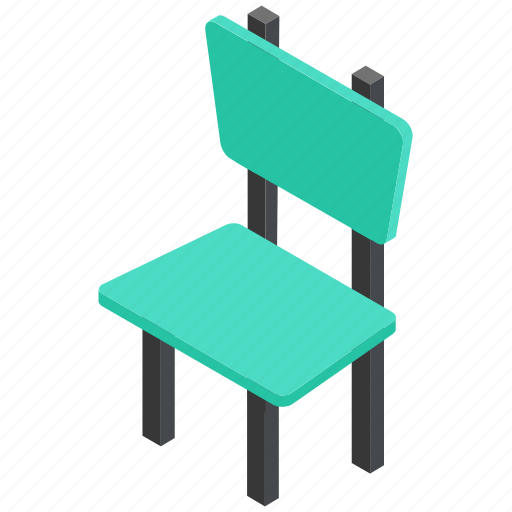 armless chair, chair, dining chair, furniture, seat icon
