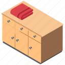 bureau, cabinet, chest of drawers, drawers, filing cabinet icon