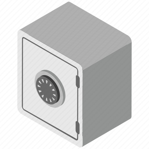 bank deposit, bank locker, bank safe, bank vault, safe box icon