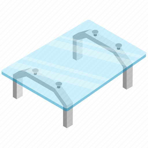 center table, coffee table, furniture, glass table, table icon