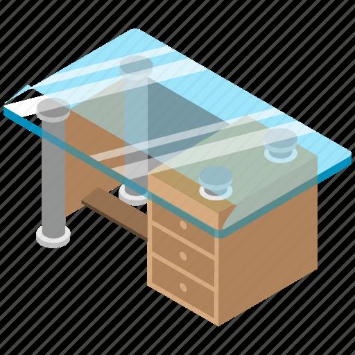 desk drawer, furniture, office desk, study desk, table drawers icon