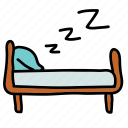 bed, frame, furniture, stay, zzz icon