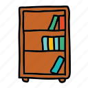 book, bookcase, books, furniture, shelf icon