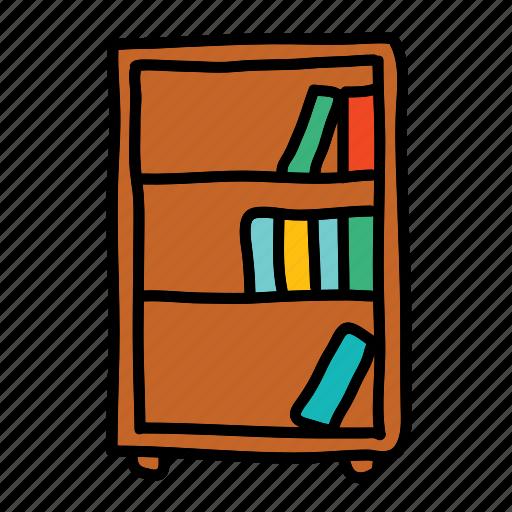 book, bookcase, books, furniture, shelf icon