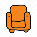 armchair, chair, furniture, interior icon