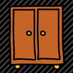 closet, cupboard, drawers, furniture, interior icon