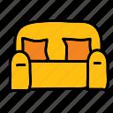 couch, furniture, livingroom, loveseat