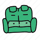 couch, furniture, interior, loveseat, sit icon