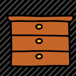 closet, clothes, cupboard, drawers, furniture, interior icon