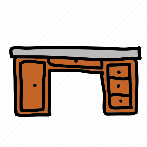 desk, furniture, library, office, wood icon