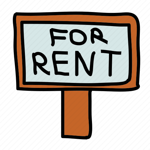 for, furniture, real estate, realestate, rent, sign icon