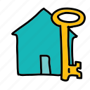 furniture, home, house, key icon