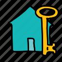 furniture, home, house, key