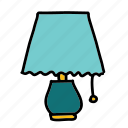 bedside, furniture, lamp, light, night icon