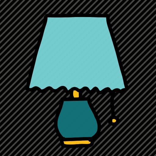 bedside, furniture, lamp, light, night icon