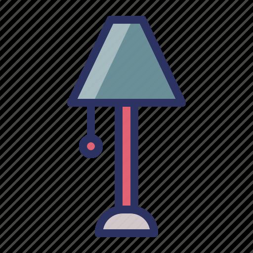 desk, furniture, interior, lamp icon