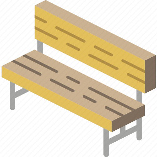 bench, furniture, iso icon