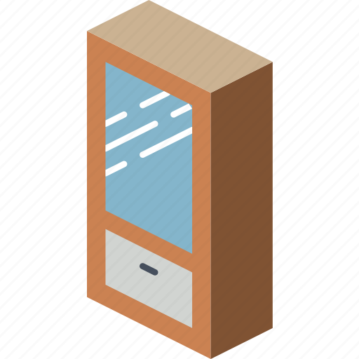 bedroom, furniture, household, iso, wardrobe icon