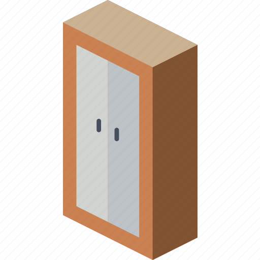 bedroom, furniture, household, iso, wardrobe icon