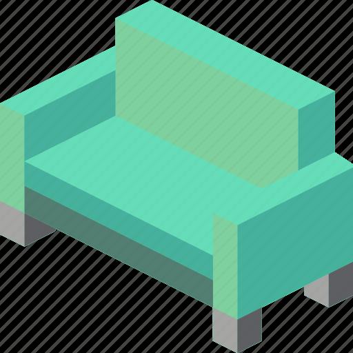 furniture, household, iso, lounge, sofa icon